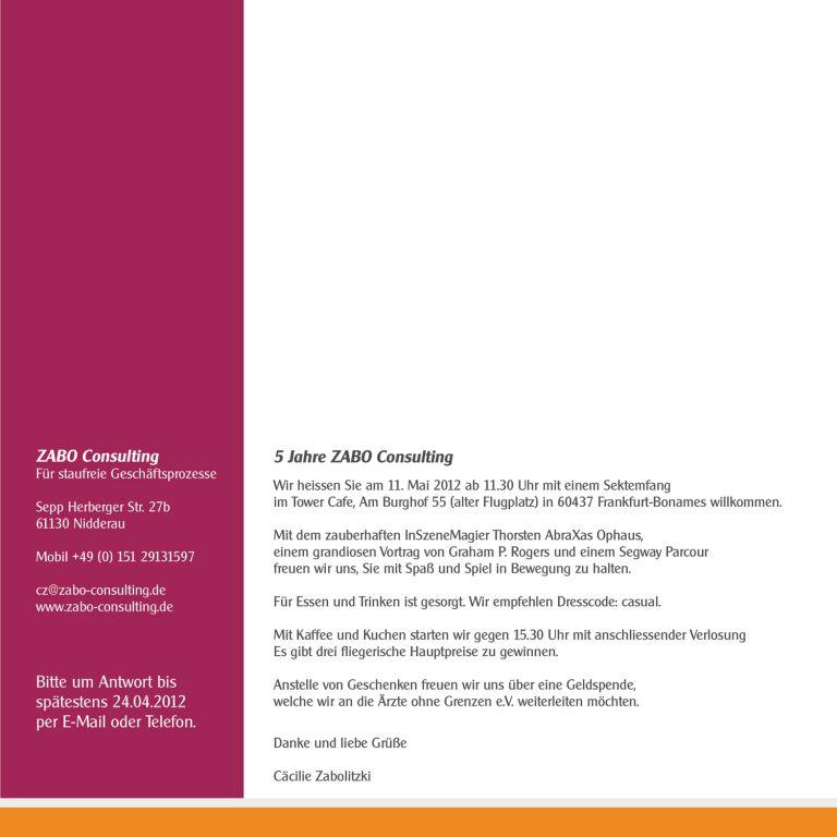 einladung zum firmenjubilaum – thegirlsroom.co, Einladung